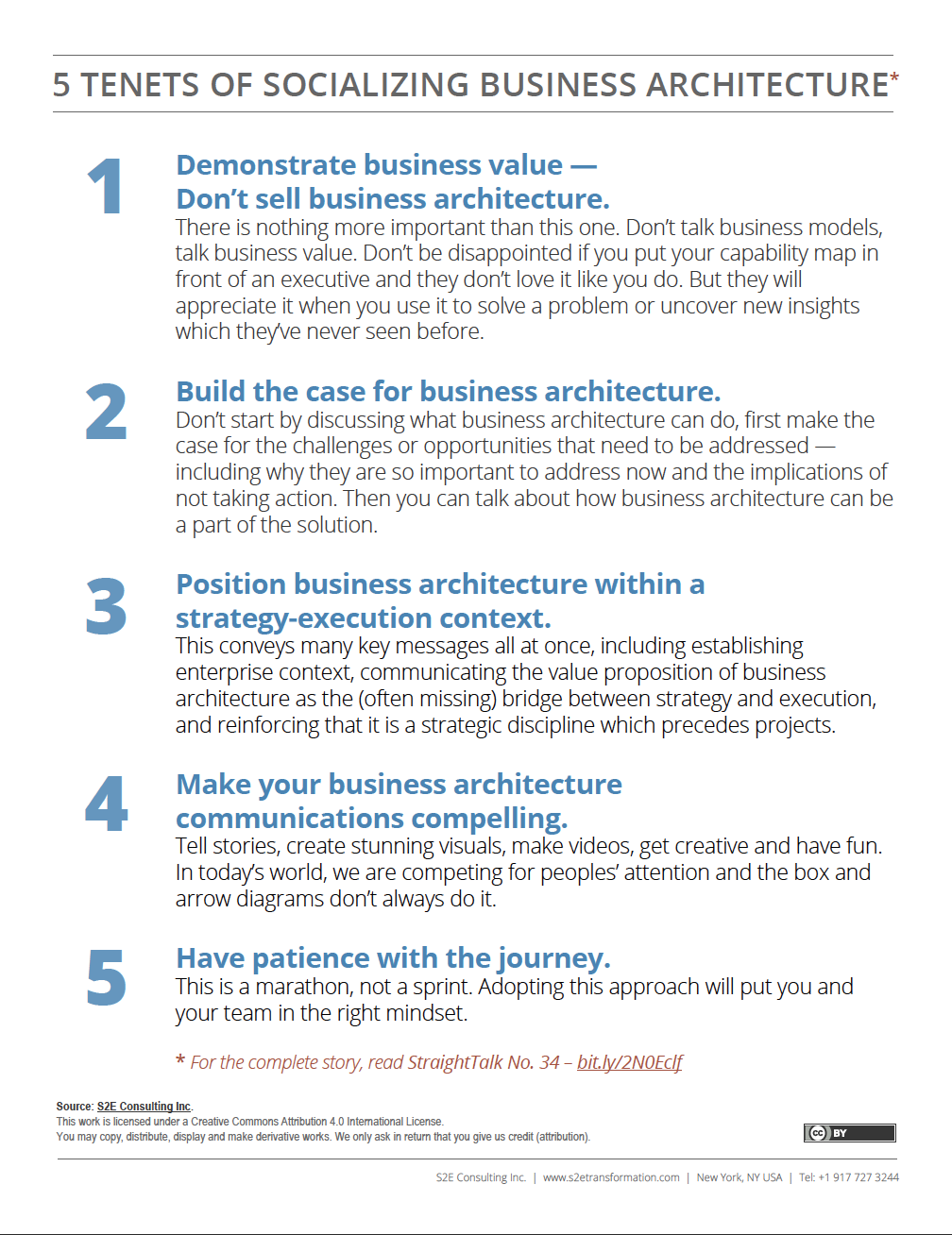Five Tenets of Socializing Business Architecture